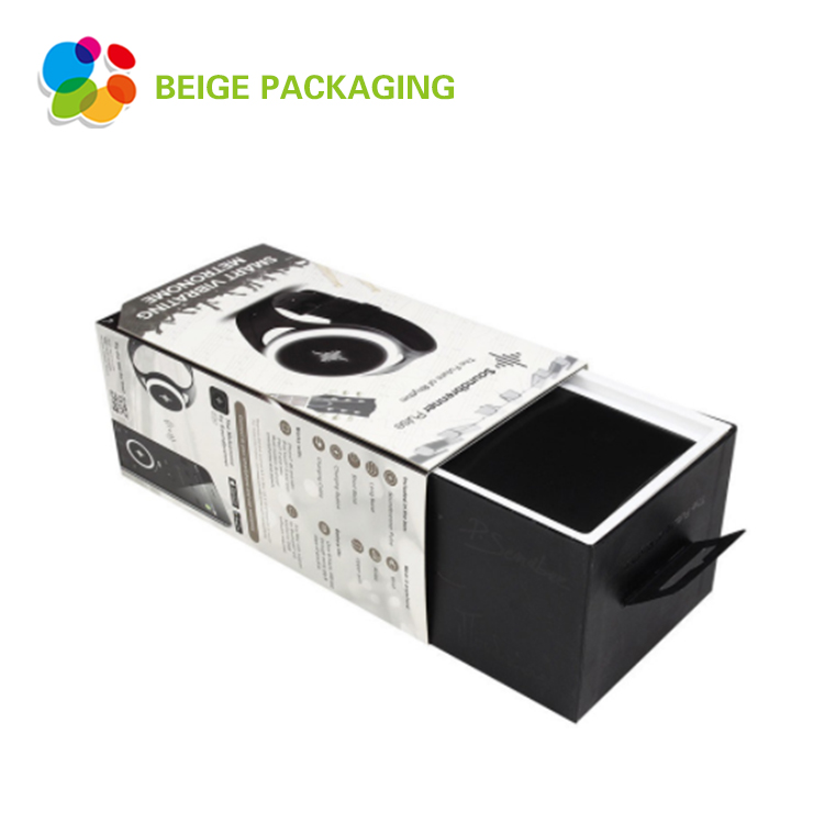 Sliding electronic product packaging box