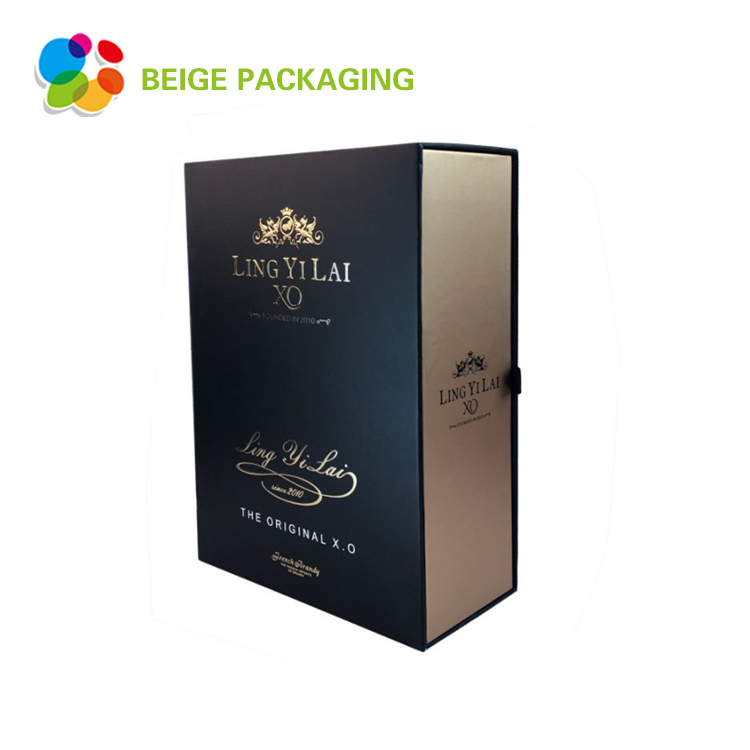 Cheap and fashion single wine bottle paper box
