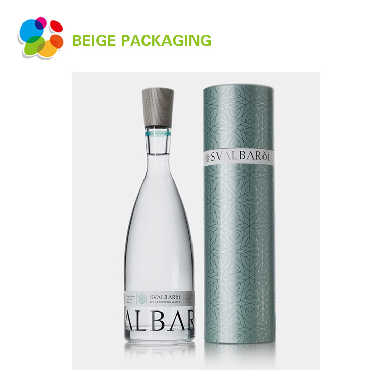 Fancy cylinder wine carton packaging box