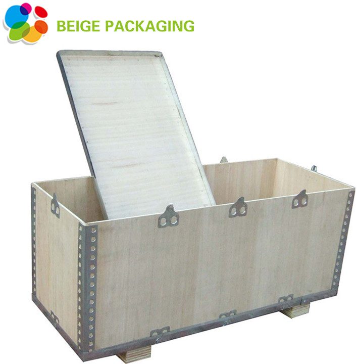 Wood Box with Steel Side for Storage and transport